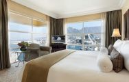 The Table Bay Hotel's scenic mountain view double bedroom in fantastic South Africa.