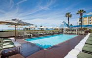 The Table Bay Hotel's picturesque main pool within stunning South Africa.