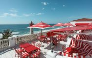 View The Oyster Box Hotel's beautiful outdoor seating within fantastic South Africa.