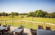 The Nottinghamshire Golf Hotel's impressive outdoor seating situated in astounding Nottinghamshire.