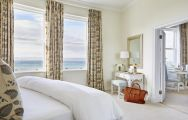 The Marine Hermanus's beautiful sea view double bedroom in striking South Africa.