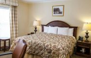 The Manor Inn at Pinehurst Resort's lovely double bedroom within impressive North Carolina.