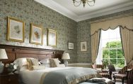 The K Club Hotel  Resort's impressive double bedroom within astounding Southern Ireland.