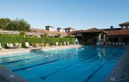 The Inn at Spanish Bay's picturesque main pool in pleasing California.