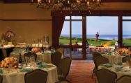 The Inn at Spanish Bay's picturesque restaurant situated in stunning California.