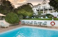 The Cellars Hohenort Hotel's beautiful main pool within marvelous South Africa.