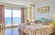 The Hotel Estival Torrequebrada's impressive double bedroom in astounding Costa Del Sol.