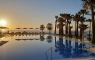 View Hotel Estival Torrequebrada's lovely sea view pool in marvelous Costa Del Sol.