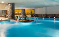The Senator Marbella's scenic indoor pool situated in marvelous Costa Del Sol.