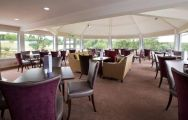 The Sandford Springs Hotel  Golf Club's lovely restaurant situated in staggering Hampshire.