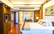 The Royal Cliff Beach Hotel's picturesque double bedroom situated in impressive Pattaya.