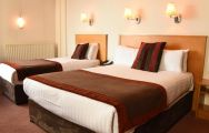 Portrush Atlantic Hotel's beautiful twin room situated in spectacular Northern Ireland.