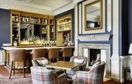 The Portmarnock Hotel's lovely Jameson Bar in gorgeous Southern Ireland.