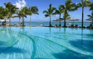 The Paradis Beachcomber Golf Resort  Spa's impressive main pool situated in vibrant Mauritius.