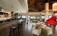 The Paradis Beachcomber Golf Resort  Spa's beautiful bar area within dazzling Mauritius.