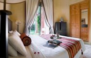 The Palmeraie Village's lovely double bedroom situated in staggering Morocco.