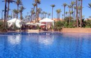 View Palmeraie Village's picturesque main pool in astounding Morocco.