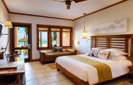 The Heritage Awali Golf  Spa Resort's picturesque double bedroom in gorgeous Mauritius.
