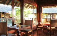 All The Heritage Awali Golf  Spa Resort's lovely Savana Restaurant in magnificent Mauritius.