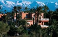 The Palmeraie Palace's picturesque mountain view situated in sensational Morocco.