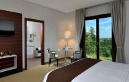 The Palazzo Di Varignana Resort's impressive double bedroom situated in gorgeous Northern Italy.