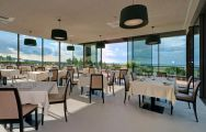 The Palazzo Di Varignana Resort's beautiful restaurant within brilliant Northern Italy.