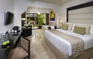 The Melia Caribe Tropical Golf  Beach Resort's lovely double bedroom in pleasing Dominican Republic.
