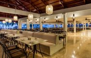 The Melia Caribe Tropical Golf  Beach Resort's lovely restaurant in dramatic Dominican Republic.