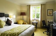 The Marriott Tudor Park's impressive double bedroom situated in gorgeous Kent.