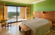 The Lopesan Costa Meloneras Hotel's picturesque double bedroom situated in impressive Gran Canaria.