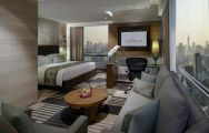 The Landmark Hotel's scenic double bedroom within dazzling Bangkok.
