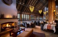 The Kwa Maritane Bush Lodge's beautiful restaurant within staggering South Africa.