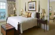The Kiawah Island Golf Resort's impressive double bedroom in astounding South Carolina.