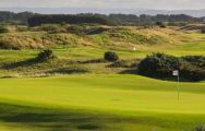The Gailes Links's scenic golf course within magnificent Scotland.