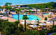 The Kiawah Island Golf Resort's picturesque main pool within stunning South Carolina.