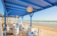 The Iberostar Royal Andalus's scenic beach bar in vibrant Costa de la Luz.