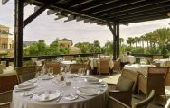 The Hotel Las Madrigueras's lovely restaurant situated in staggering Tenerife.