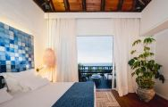 The Hotel Jardin Tropical's picturesque double bedroom within astounding Tenerife.