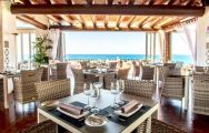 The Hotel Jardin Tropical's beautiful sea view restaurant in amazing Tenerife.