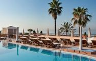 The Hotel Fuerte Marbella's picturesque main pool in pleasing Costa Del Sol.