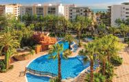 View H10 Salou Princess's picturesque main pool within vibrant Costa Dorada.