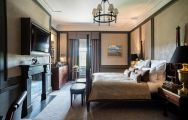 The Gleneagles's impressive double bedroom within brilliant Scotland.