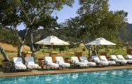 View Rosewood CordeValle's picturesque main pool situated in pleasing California.