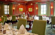 View Hotel Maximilian's beautiful restaurant in striking Germany.