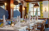 The Hotel Maximilian's scenic restaurant within breathtaking Germany.
