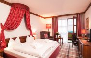 View Furstenhof Hotel's comfortable double bedroom situated in pleasing Germany.
