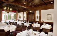 The Furstenhof Hotel's impressive restaurant situated in staggering Germany.