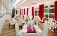 The Das Ludwig Hotel's beautiful restaurant in brilliant Germany.