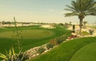 The Doha Golf Club's beautiful golf course within staggering Qatar.