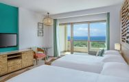 The Sheraton Sanya Haitang Bay Resort's impressive twin room within pleasing China.